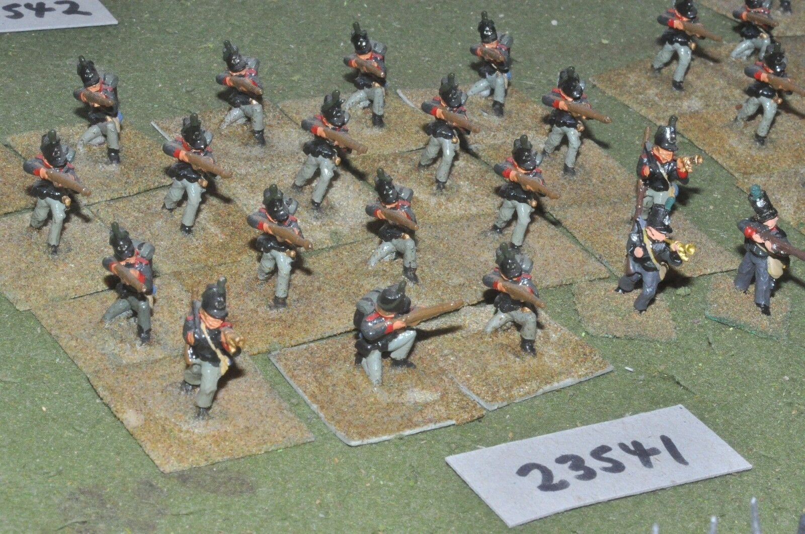 25mm napoleonic   british - rifles 20 figures - inf (23541)