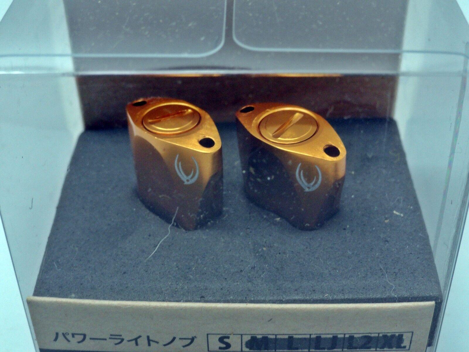Votex Aluminum Paddle Type Knob Set (2 Pieces) for Shimano & Daiwa   gold