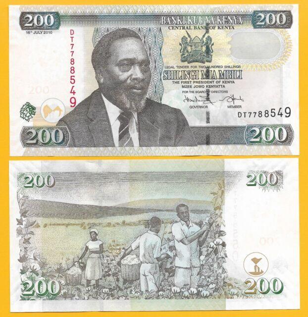Kenya 200 Shillings p-49e 2010 UNC Banknote