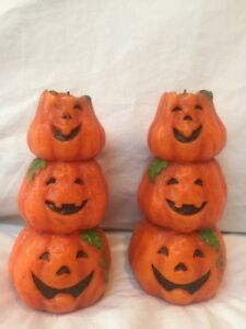 image is loading vintage halloween stacked pumpkins jack o lantern totem