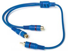 Cinch RCA Adapter Chinch 1x Stecker 2x Buchse Y-Adapter Verteiler Kabel Car Hifi