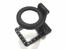 Carson Glass Lens Metal Linen Test 6x20mm Folding Metal Magnifier w/ Pouch Loupe