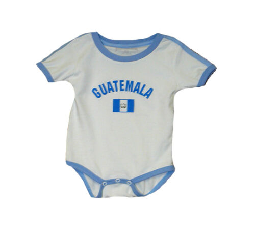 Guatemala Baby Bodysuit 100% Cotton Soccer Country Flag T-Shirt Infant
