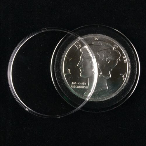 Silver Round Details about  /50 Air-Tite Coin Holder with Black Rings39mm 1 oz