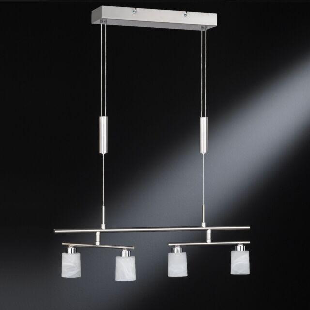 LED Pendelleuchte 67614 Honsel Esszimmer Hängelampe 4x 5,2 Watt Glas