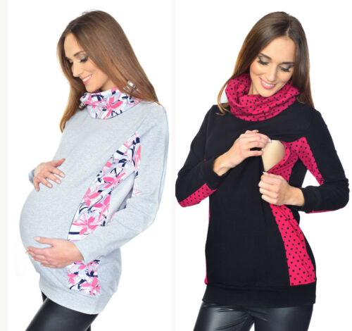 """Fille 2 in1 Maternity /& NURSING BREASTFEEDING Sweat Pull-over /""""Lucy/"""""""