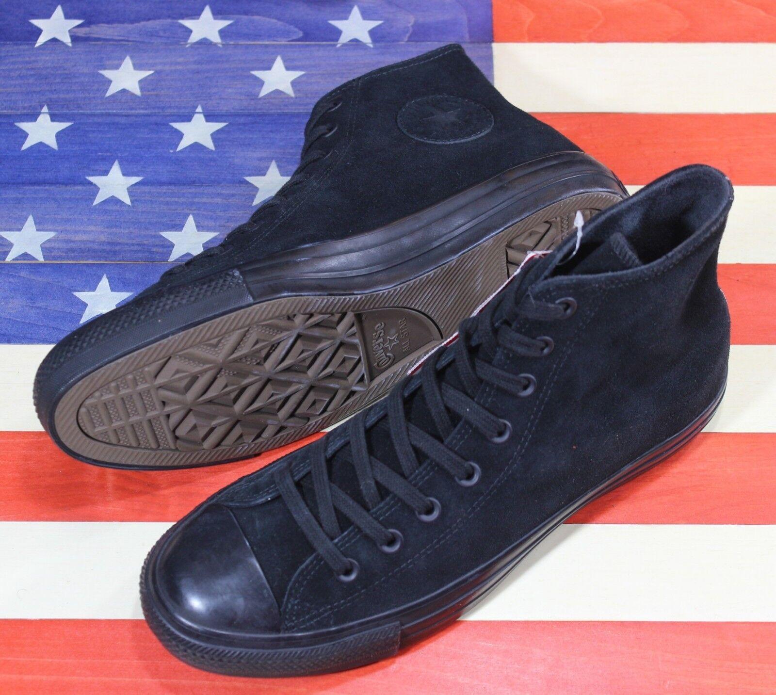 CONVERSE SAMPLE Chuck Taylor ALL-STAR HI Plush Suede nero scarpe [157520C] Mens 9