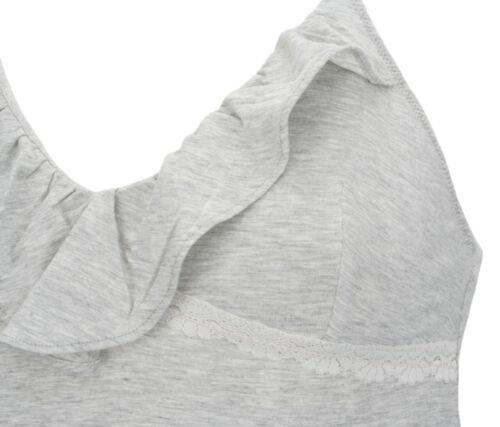 EX Store Soft Modal JERSEY CHEMISE con finitura in pizzo grigio