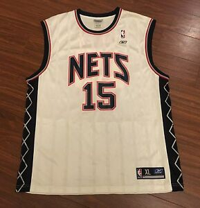 reputable site 9dcd8 4c056 Details about Vince Carter Brooklyn New Jersey Nets Reebok Replica Jersey  Men's XL New w/o Tag