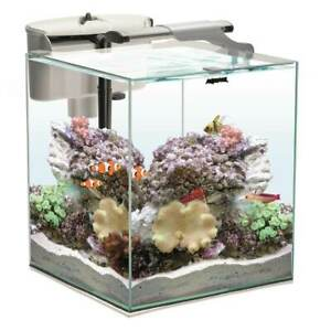 Aquael Aquarium Set Nano Reef Duo 49l Weiß Salzwasser Meerwasserkomplettset Ebay