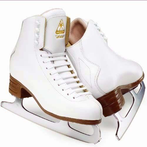 JACKSON ARTISTE.FIGURE SKATES.JUNIOR. ICE SKATES.WHITE.SHARPENED FOR FREE!