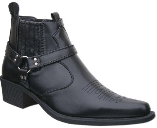 britannica occidentale degli nuovo libera caviglia del stivali del Il caviglia l'affrancatura nero cowboy wASF77xqB