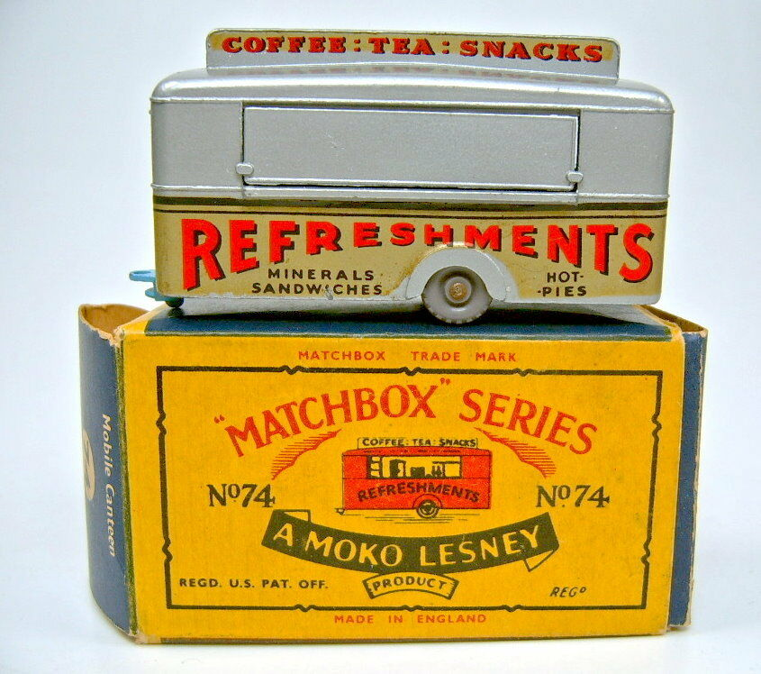 Matchbox RW 74a Mobile Canteen argento Top en  moko  box