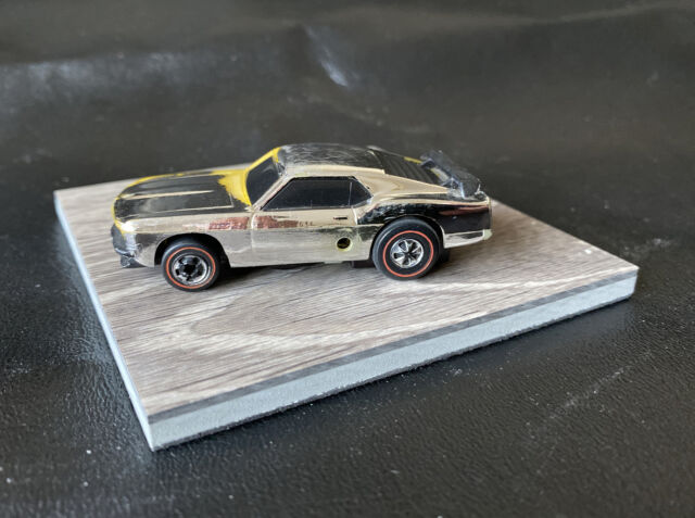 Vintage 1969 Hot Wheels Redline Sizzlers Chrome Mustang Boss 302 Untested