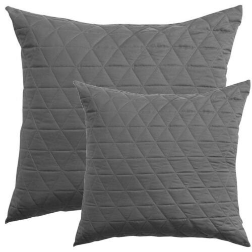 Vivid Coordinates By BiancaCharcoalQuilted European PillowcaseCushion