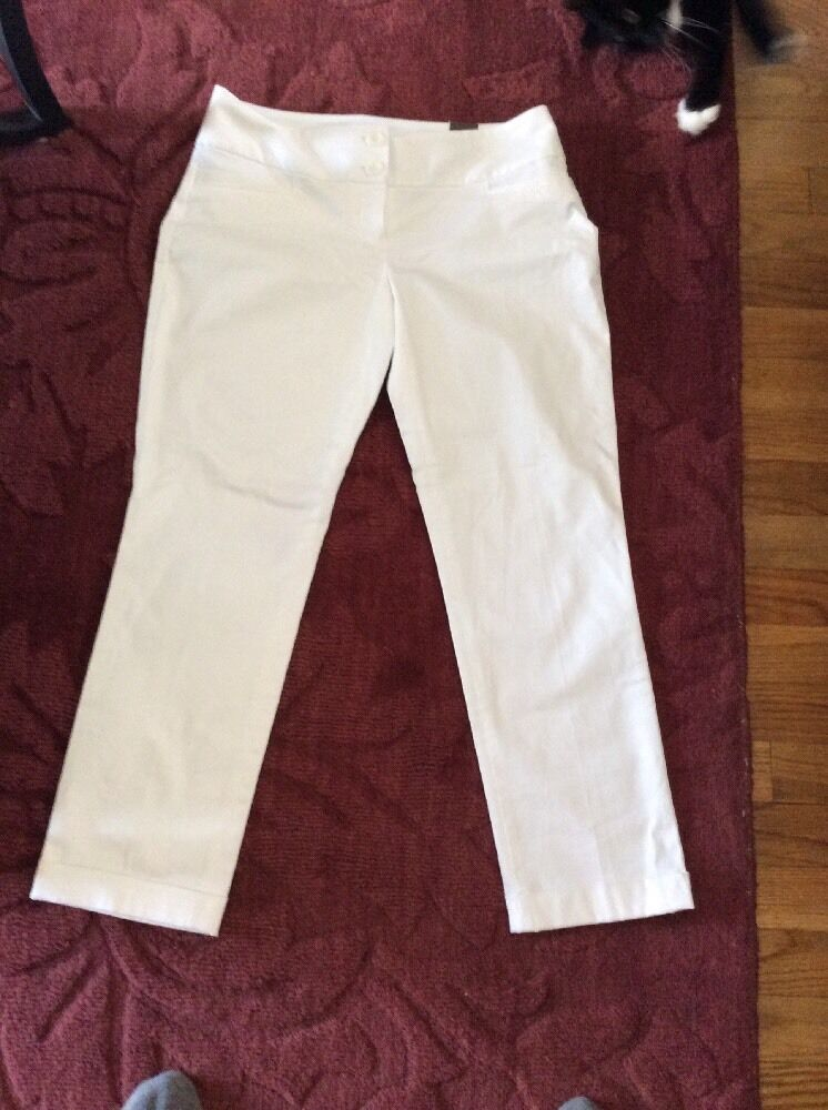 The Limited Drew Fit Ankle White pants size 2