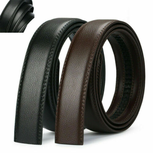 Men/'s Luxury Buckle Belt Brown Black Ratchet Strap Automatic Leather Jeans