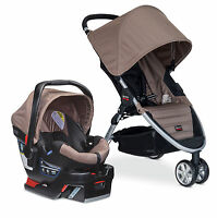 Britax 2015 B-agile Stroller & B-safe 35 Infant Car Seat Travel System Sandstone