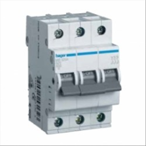 HAGER-SWITCH-AUTOMATIC-MAGNETOTHERMAL-3P-3-PIN-3X6A-10-KA-CURVE-C-3-MODU