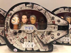Pez Dispenser 4pc Set Star Wars in Millenium Falcon Tin NEW Collectors Tin