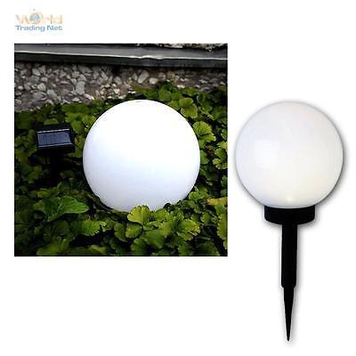 LED Solare Lampada a sfera bianco circa 20 cm Ø Kugelform Esterno Giardino Lampada