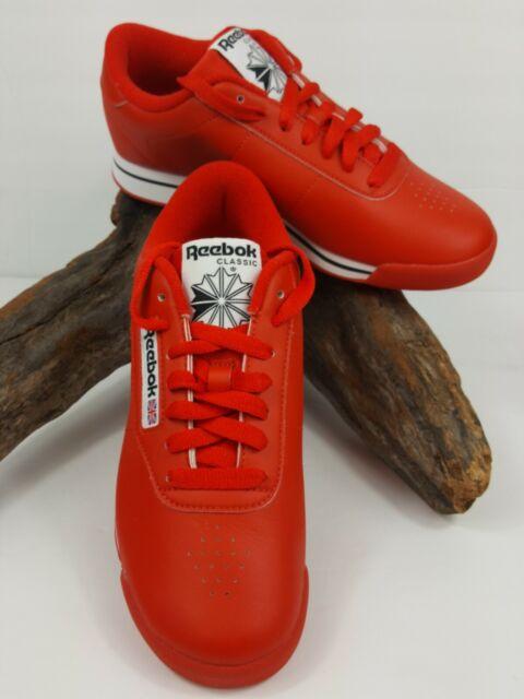 REEBOK CLASSIC PRINCESS TECHY RED, WHITE, BLACK J95025 WOMENS RUNNING SHOES Sz 6