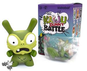 Kidrobot x Clutter Kaiju Dunny Battle Series Green Baby G by Chauskoskis