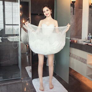 0850e9d74052 Image is loading Women-Bridal-Petticoat-Gather-Skirt-Slip-Toilet-Buddy-