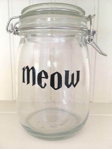 HARRY POTTER Font MEOW Vinyl Decal Sticker DIY Cat Food Jar//Container Label
