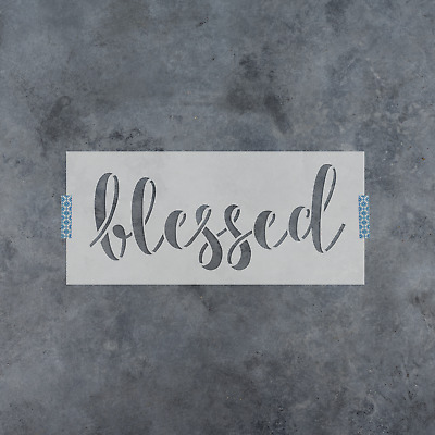 Welcome and Be Blessed Stencil Durable /& Reusable Mylar Stencils