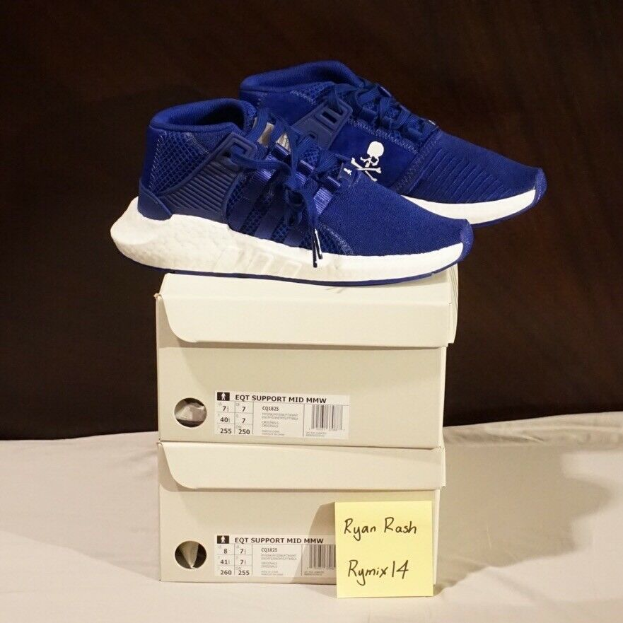 Adidas Mastermind EQT Mid bluee CQ1825 SIZE 8 US Consortium Yeezy Boost Ultra NMD
