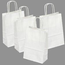 70 White Kraft Bag Retail Merchandise Shopping 55x32x83free Tissue Paper