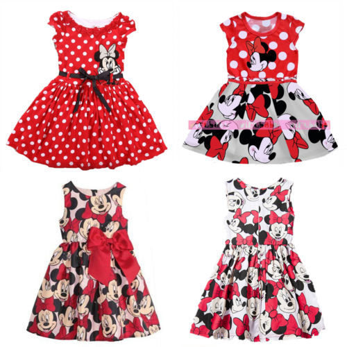 Headband Baby Kids Girls Toddler Minnie Mouse Outfits Party Costume Tutu Dress