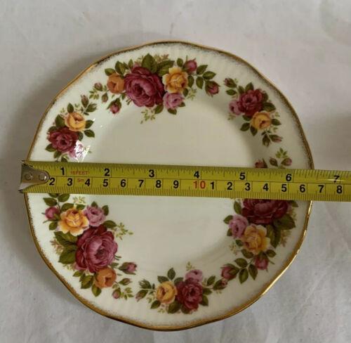 VTG Elizabethan 'Cottage Rose' Fine Bone China Bread /& Butter Plate Roses Gold