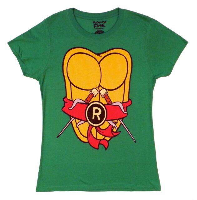 Teenage Mutant Ninja Turtles Ralph Raphael Costume Licensed Junior Shirt S-XL