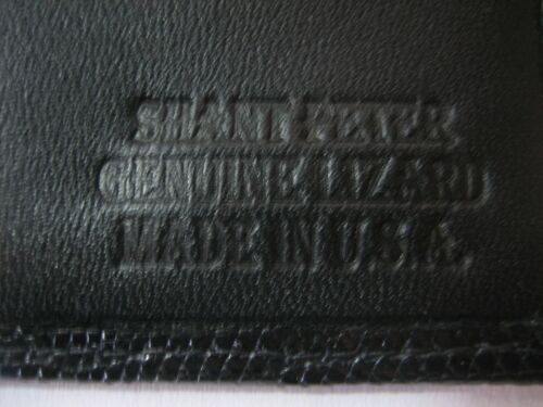 men/'s wallet by SHANT PETER U.S.A. Genuine lizard wallet money /& card holder