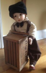 Danny-Porcelain-Doll-With-Coca-Cola-Scooter-Franklin-Heirloom-Dolls-90s