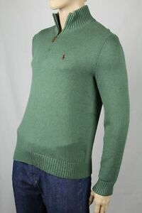 Polo-Ralph-Lauren-Green-1-2-Half-Zip-Sweater-NWT-Medium-M