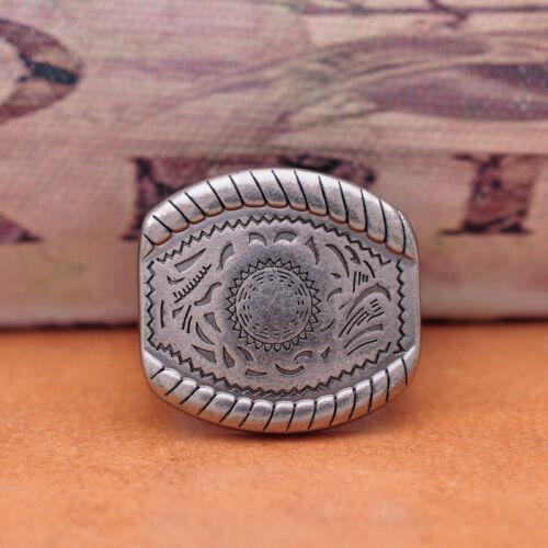 Big Silver Flower Gravé vintage Cowboy Western Boucle de ceinture Set Fit 20 mm Bracelet