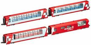 KATO-N-gauge-Alps-Glacier-Express-Add-On-4-Car-Set-Model-Train