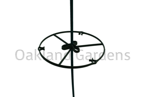 10 X 15cm Plant Support Rings for Garden Canes Flower Ties Ring Frame Pots Clips