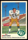 1970 OPC O PEE CHEE CFL FOOTBALL #53 ROY SHATZKO EX-NM EDMONTON ESKIMOS UBC
