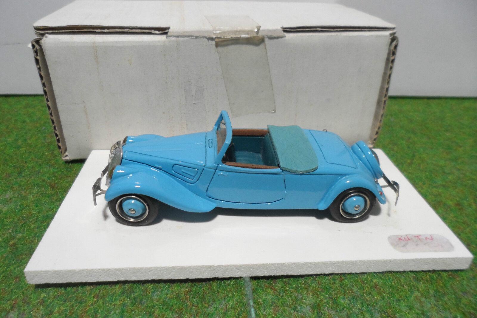 CITROËN TRACTION 22 CV CABRIOLET au 1 43 HECO MINIATURES  voiture MAGNIFIQUE RARE  plus vendu