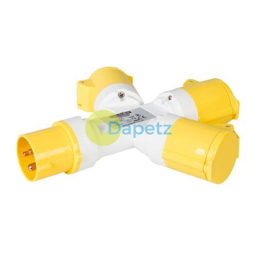 3 Way 110 V Volt Branch Spliter Y Junction Box 16 A Amp Site Socket Splashproof