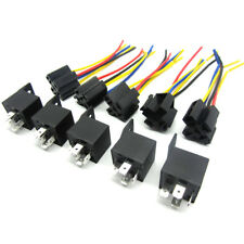 s l225 5 pcs 12 volt 30 40a spdt relay wire socket car automotive alarm 40