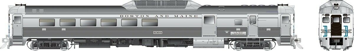 16618 Rapido Budd RDC-3 (Phase II) DC DCC Sound Boston & Maine (McGinnis)