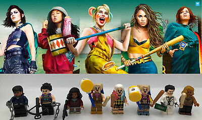 Harley Quinn Birds Of Prey 8pcs Minifigures Custom Set Ebay
