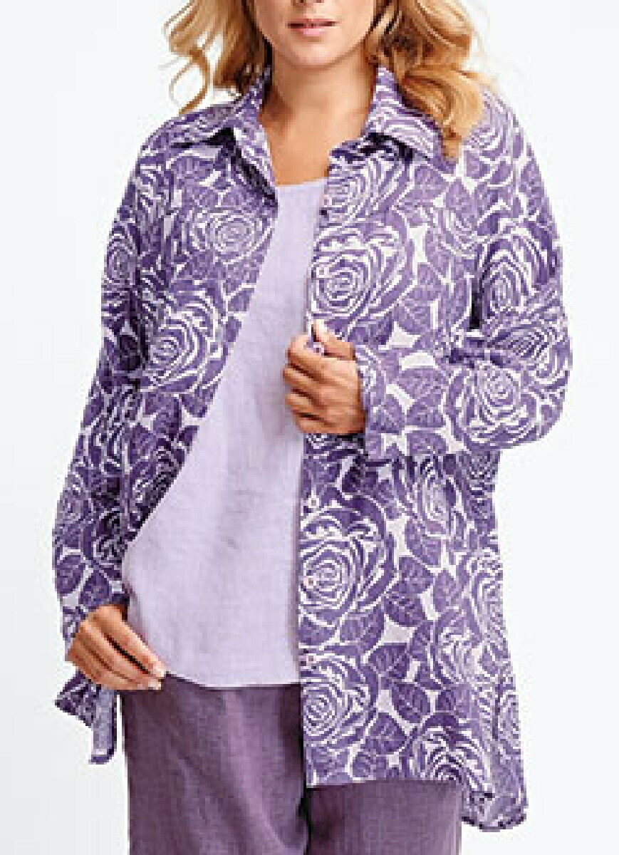 FLAX   Designs   LINEN   Shirt   M   &  L    NWOT   Dramatic Shirt OvERsiZed