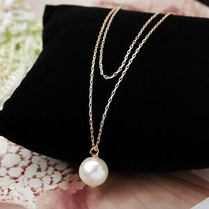 charm damen perlen halskette perlen anh nger gold silber. Black Bedroom Furniture Sets. Home Design Ideas