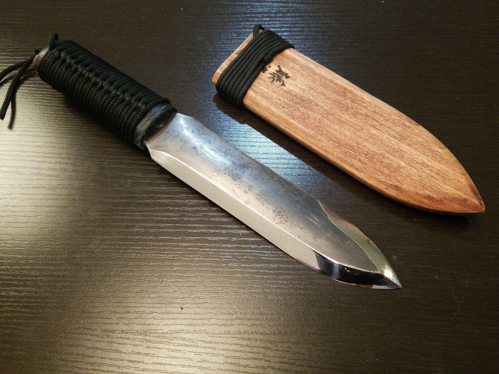 Japonais COURT couteau en acier au carbone main couteau Lame Longueur 180 mm